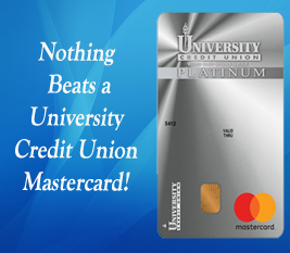 Nothing Beats a University Credit Union MasterCard