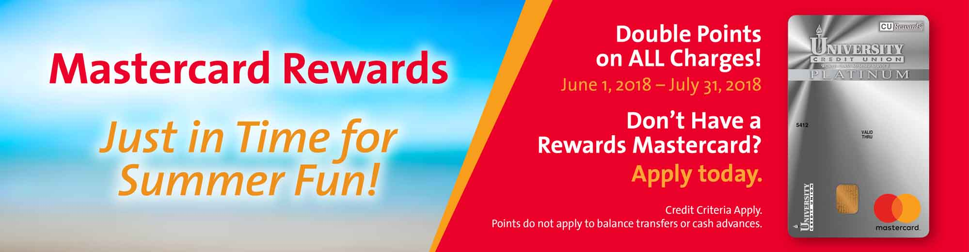 New University Credit Union Rewards MasterCard